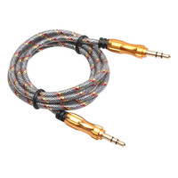 NI5L 1M 3.5mm  to  Car Aux Auxiliary Cord Stereo Audio Cable for Phone iPod Macbook PC MP4 Smartphone