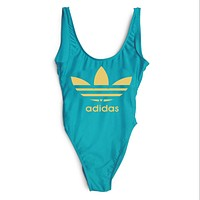 ADIDAS 2018 New Sexy Women's Beautiful Siamese Bikini Swimsuit F-ZDY-AK blue