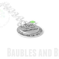 Forever In My Heart Memorial Necklace ~ Personalized