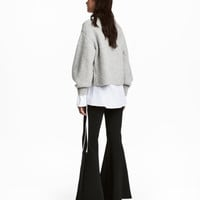 Flared Jersey Pants - from H&M