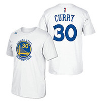 Golden State Warriors Stephen Curry Name & Number T-Shirt (White) XL