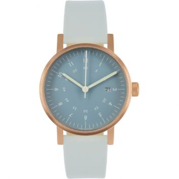 Open Box - V03D Watch - Navy Dial/Copper Case/Grey Leather Strap   VOID Watches   HORNE