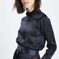 Satin Roll-Neck Blouse - New In This Week - New In