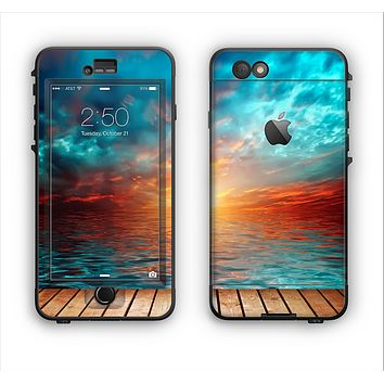 The Paradise Sunset Ocean Dock Apple iPhone 6 Plus LifeProof Nuud Case Skin Set