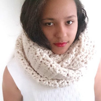 Huge oversized eternity scarf, Chunky hooded cowl - The Guenevere Cowl - Wool scarf