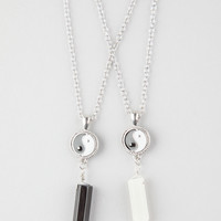 FULL TILT 2 Piece Yin Yang/Crystal Necklace | Necklaces