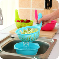 Double-layered Kitchen Plastic Creative Bowl = 4877850436
