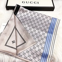 GUCCI Woman Silk Cape Scarf Scarves Shawl Accessories