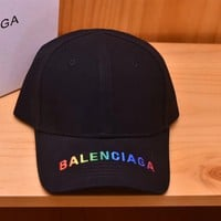 balenciaga Embroidered Baseball Cap Hat