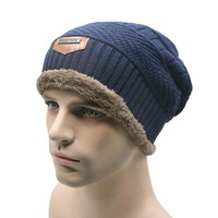 Unisex Women Men Hat Winter Beanie Baggy Warm Wool Cap