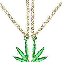 BFF WEED NECKLACE