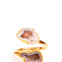 Double Geode Ring