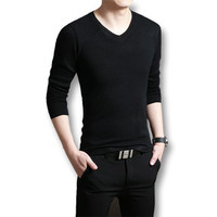 V Neck Sweaters and Pullovers Casual Slim Fit Long SleevedKnitted Sweaters Pullovers Outwear