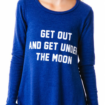 Wildfox Couture Get Under the Moon Grunge Girl Dress City Night