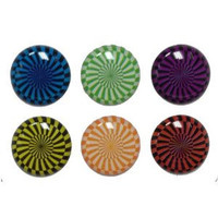 Swirls - 6 Piece Home Button Stickers for Apple iPhone, iPad, iPad Mini, iTouch