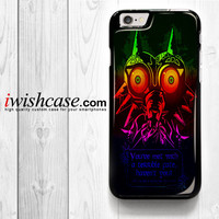 Legend Of Zelda Majoras Mask Quote for iPhone 4 4S 5 5S 5C 6 6 Plus , iPod Touch 4 5  , Samsung Galaxy S3 S4 S5 S6 S6 Edge Note 3 Note 4 , and HTC One X M7 M8 Case