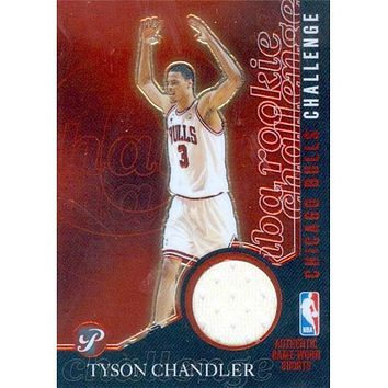 Autograph Warehouse 409143 Tyson Chandler Player Worn Jersey Patch Basketball Card - Chicago Bulls 2003 Topps Rookie Challenge No.PCTC
