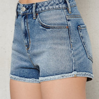 PacSun Tommy Blue High Rise Turn-Up Hem Denim Shorts at PacSun.com