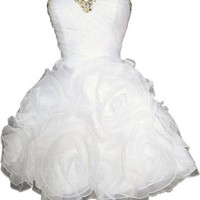Angel Bride Short Party Homecoming Birthday Prom Dresses with Ruffles Bandage