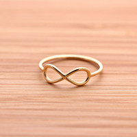 simple INFINITY ring, 2 colors   girlsluv.it - handmade jewelry collection, ETSY, Artfire, Zibbet, Earrings, Necklace