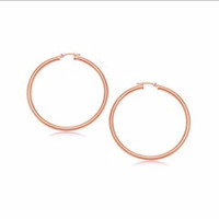 Classic Hoop Earrings in 14K Rose Gold