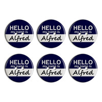 Alfred Hello My Name Is Plastic Resin Button Set of 6