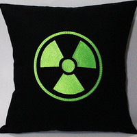 Avengers Hulk Gamma Radiation symbol inspired Embroidered Pillow Case Cover
