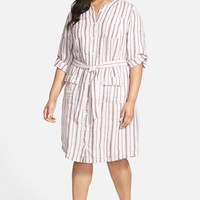 Plus Size Women's Caslon Linen Cargo Dress