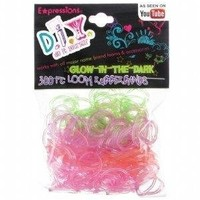 Expressions Girl / D.I.Y. 300-piece Glow in the Dark Latex-free Rubber Band Bracelet Loom Refill Pack