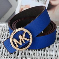 Michael Kors MK Woman Men Fashion Smooth Buckle Belt Leather Belt