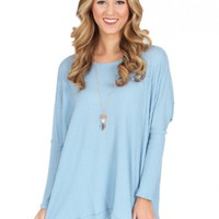 When I'm With You Sweater in Blue   Monday Dress Boutique