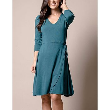 Bamboo Juliana Dress - Spruce