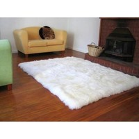Faux Fur Sheepskin Shag Area Rug Ivory (3'5 x 5'5)   Overstock.com Shopping - The Best Deals on 3x5 - 4x6 Rugs