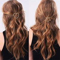 Metal Ponytail Holder with Star/Pentagramme Hairclips women hair accessories for a half-up hairstyle Free Shipping