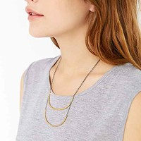FiLiLi By Luiny For Urban Outfitters Double Bar Necklace- Gold One