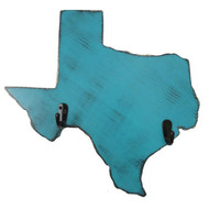 Texas Key Hook State Cut Out State Shape Wood Sign Wall Decor Rustic chic Key Holder Wall Organizer Housewarming Gift