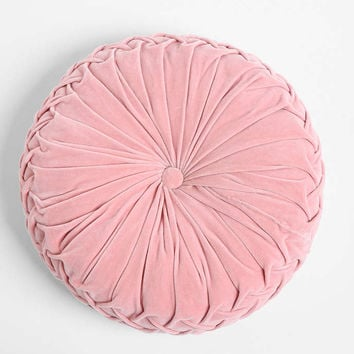 Round Pintuck Pillow - Urban Outfitters