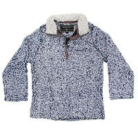 CHILD'S Frosty Tip 1/4 Zip Pullover in Vintage Blue by True Grit