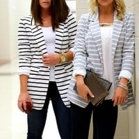 "The ""Spencer"" Blazer {Black + White}"