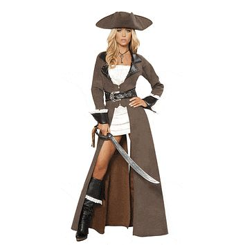 Sexy Pilgrim Pirate Captain Halloween Costume