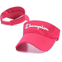 Champion Newest Women Men Embroidery Sports Sun Hat Baseball Cap Hat Rose Red