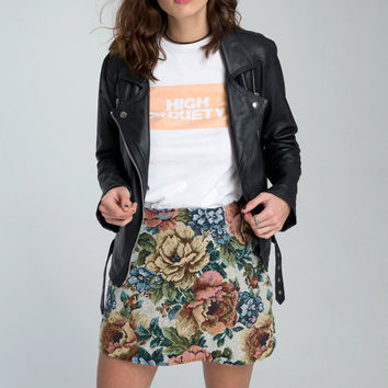 Annie A Line Skirt In Rose Tapestry Iced by Motel