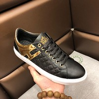 Hermes 2019 new high-end fashion men's wild sports shoes black