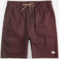 Lira Forever Mens Volley Shorts Burgundy  In Sizes