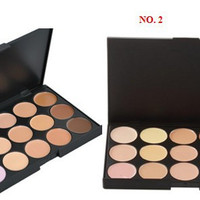 Professional 15 Color Camouflage Facial Concealer Palettes Neutral Makeup Cosmetic
