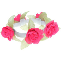 Flower With Leaves Bun Wrap