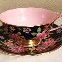 LOVELY PARAGON FOOTED CABINET CUP AND SAUCER C1939 - 49 , EXC CONDITION