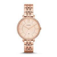 Jacqueline Three-Hand Date Stainless Steel Watch – Rose Gold-Tone