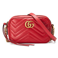 Gucci Hot Selling Women's Fashion Double G Wave Skew Pack Shopping Bag #1