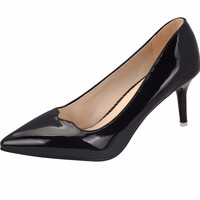 Patent Leather Pointed-toe High Heels